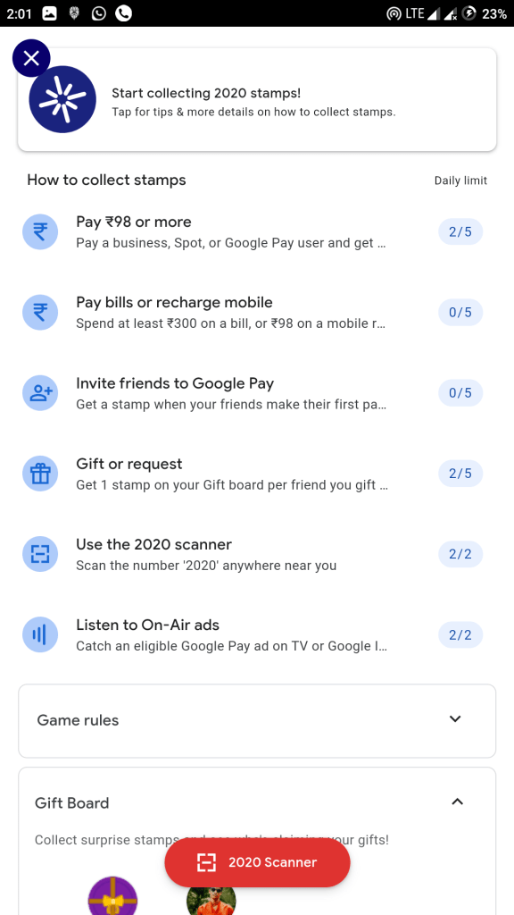 Screenshot 20191223 140126 Google Pay