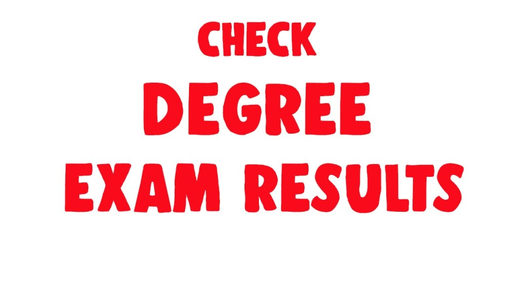 degree exam results