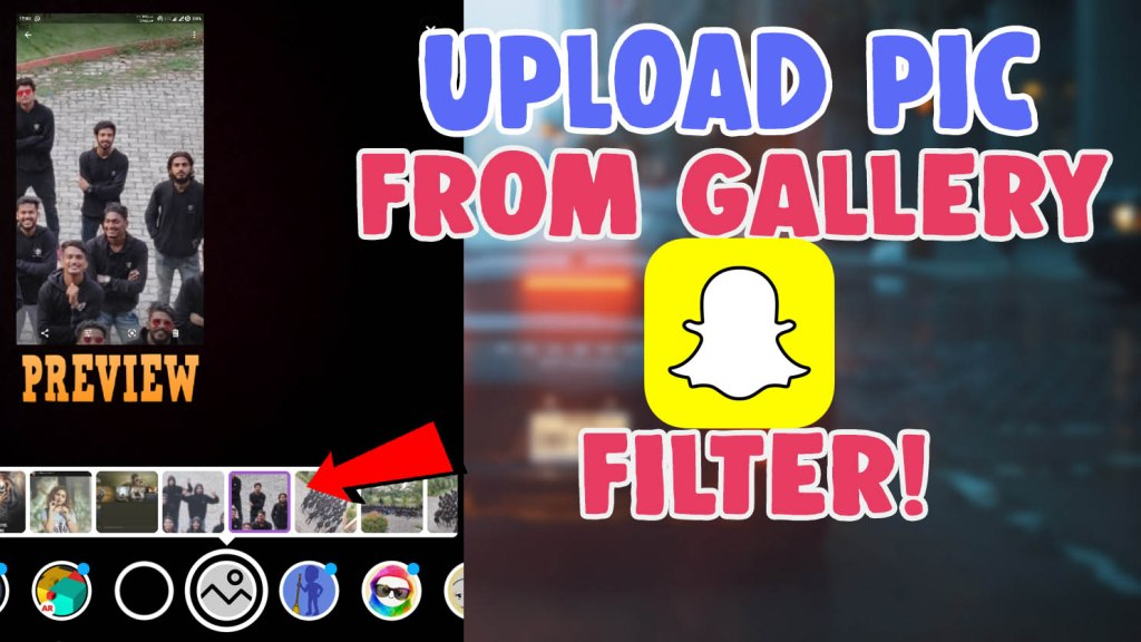 snapchat filter where you can send a picture from camera roll