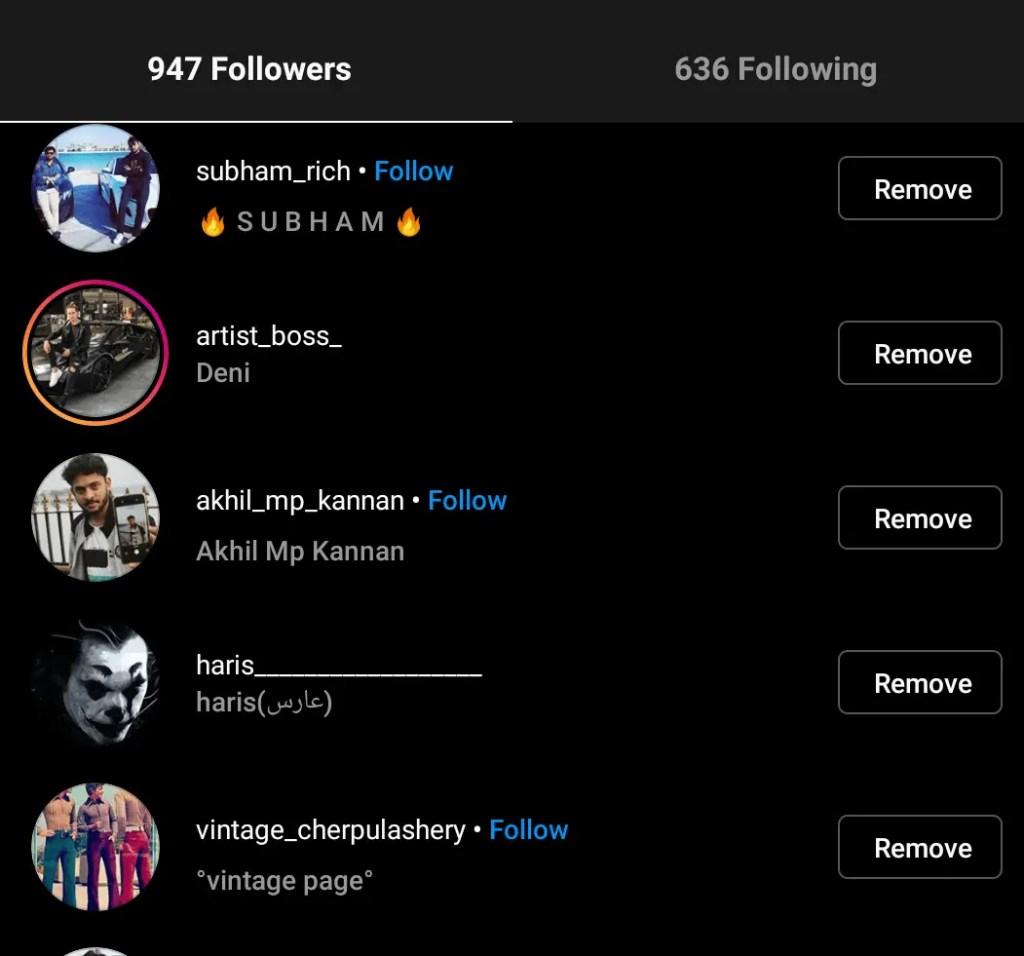 hide my following instagram