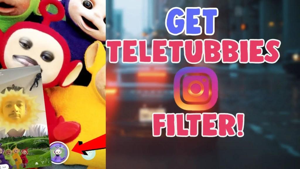 teletubbies sun instagram filter