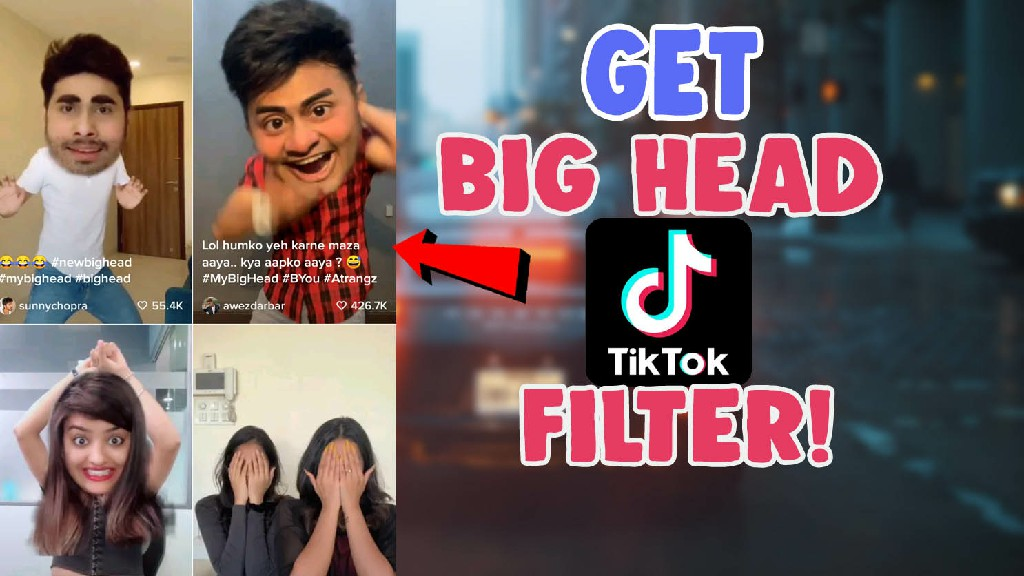 big head filter tiktok instagram