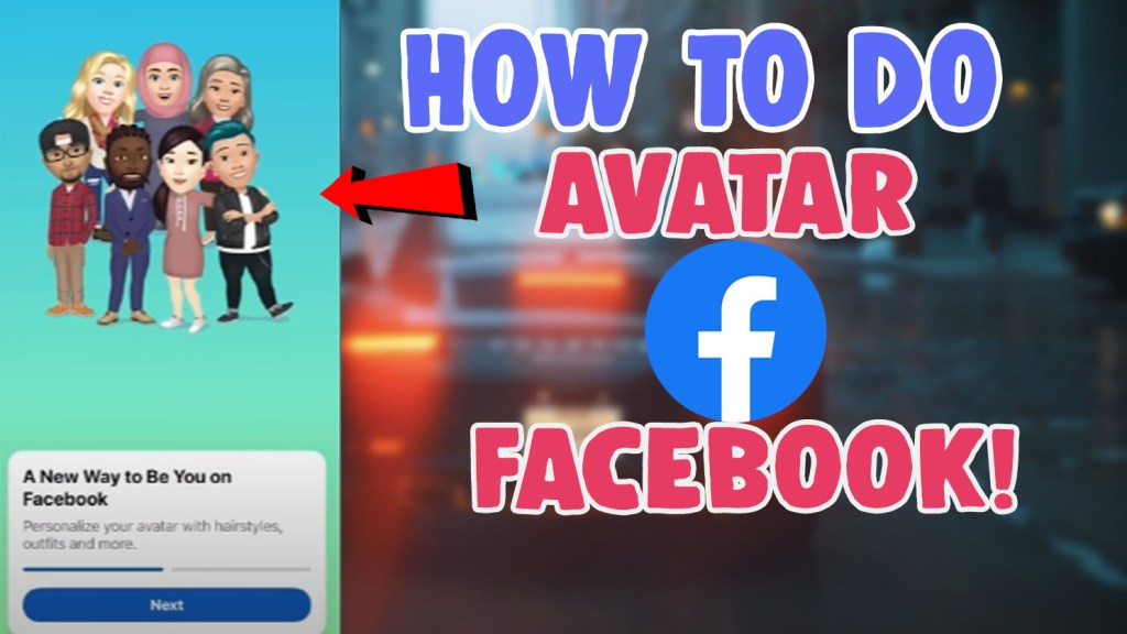 How To Get and Do Make Avatar On Facebook App