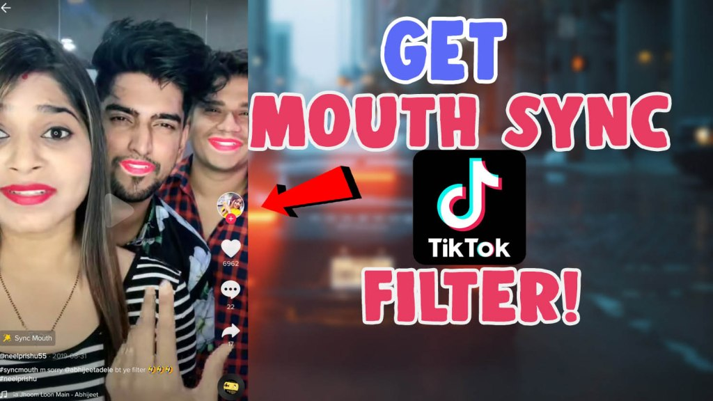 mouth sync filter in tiktok