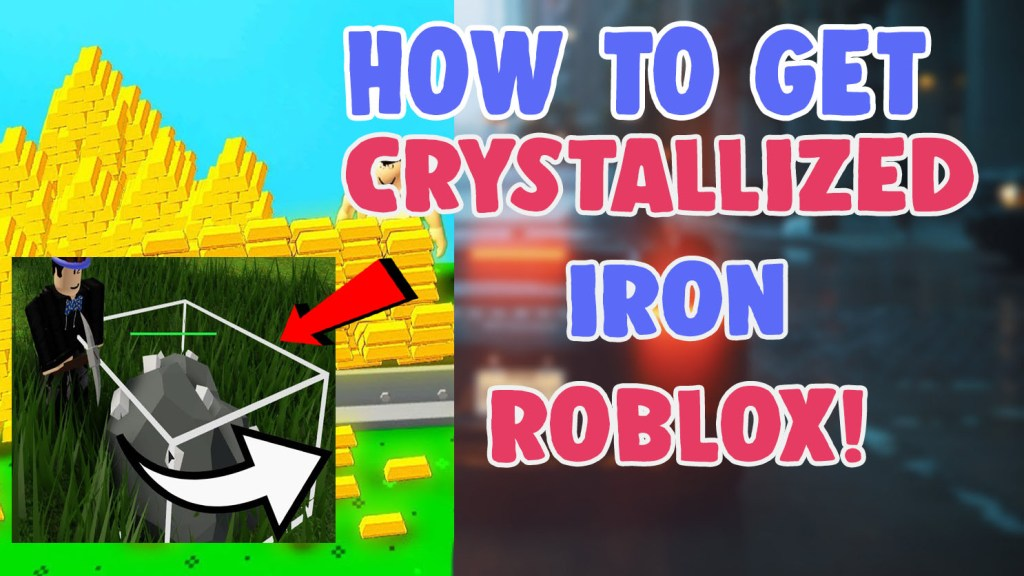 get crystallized iron and gold in skyblock roblox