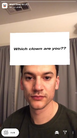 which clown are you instagram filter tiktok