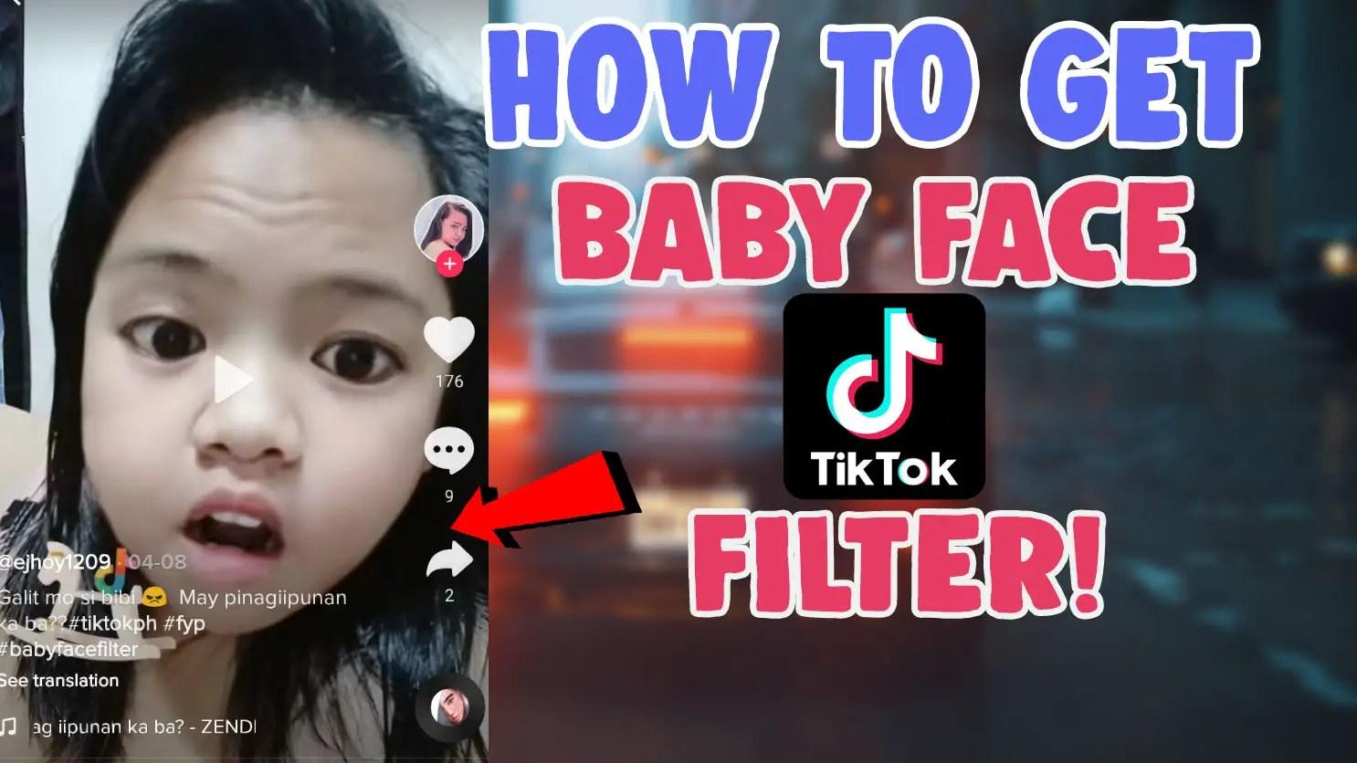 baby face filter effect tiktok child look