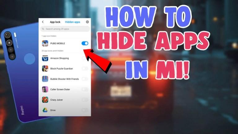 how to hide app in mi redmi mobiles