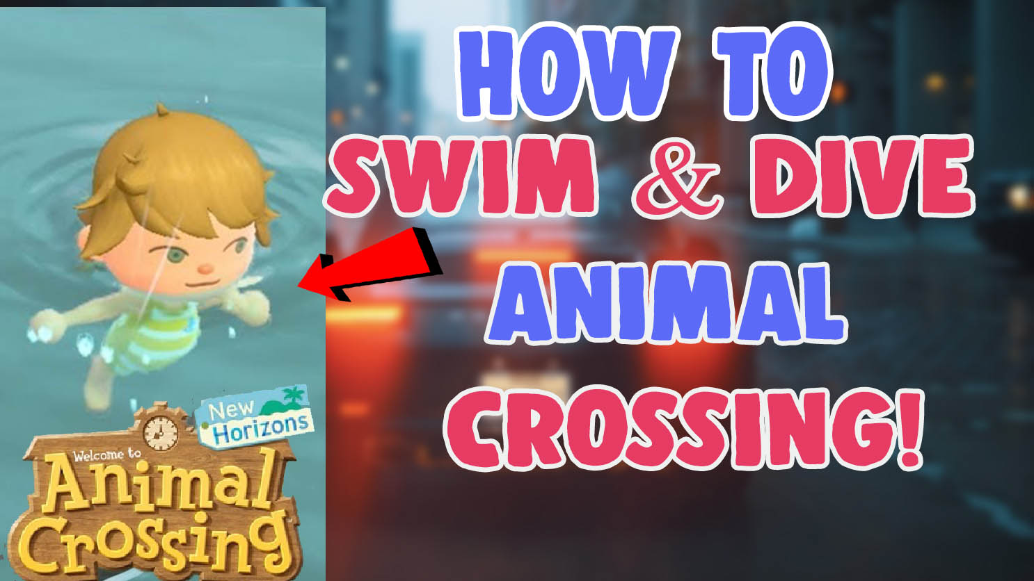 how to swim and dive in animal crossing