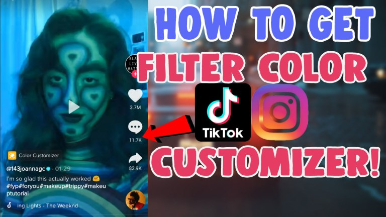 get use the color customizer filter tiktok