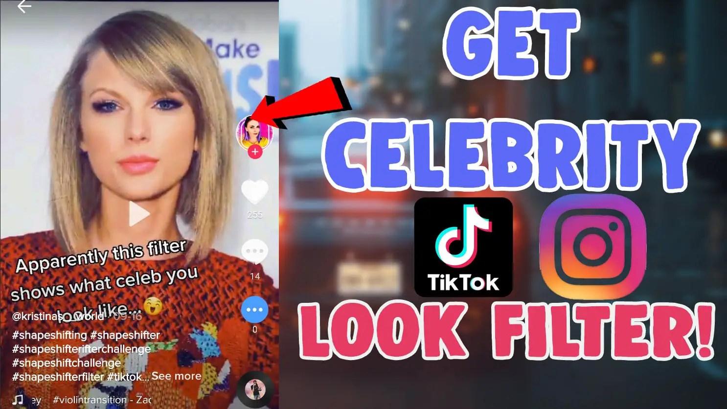 how to get celebrity look alike filter on tiktok shapeshifting effect