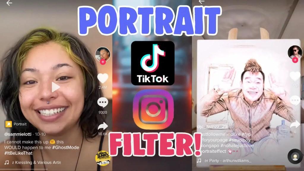 portrait filter tiktok effect instagram