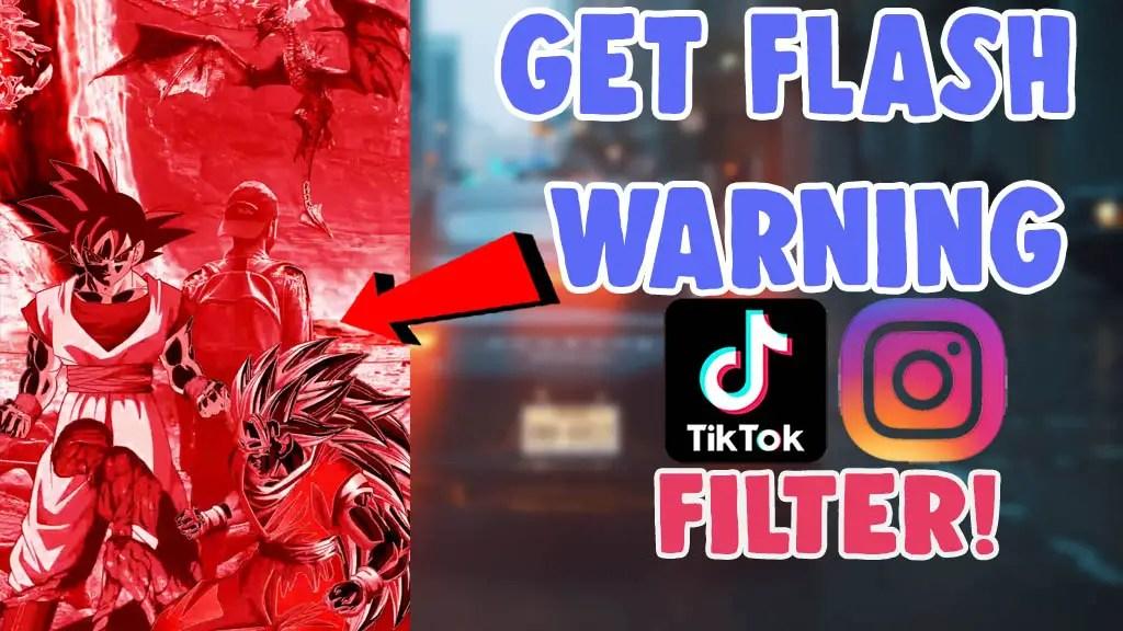 flash warning trend filter instagram tiktok