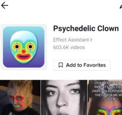 Psychedelic Clown Filter Tiktok Icon