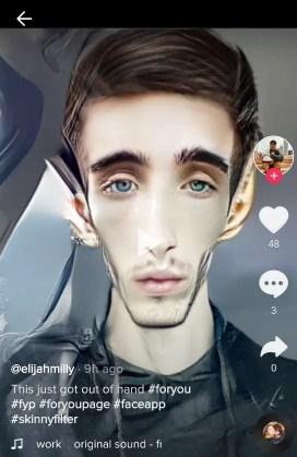 face shrinking filter tiktok