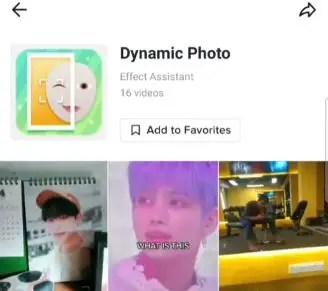 dynamic photo effect filter icon tiktok