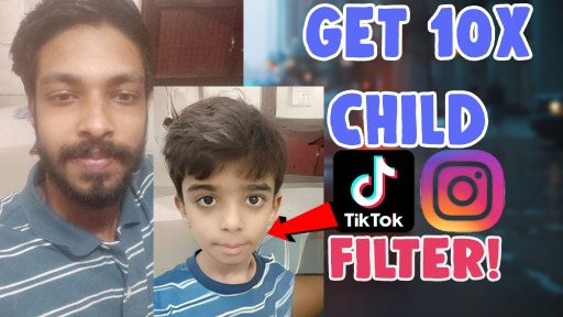 how to do 10 times child filter instagram reels