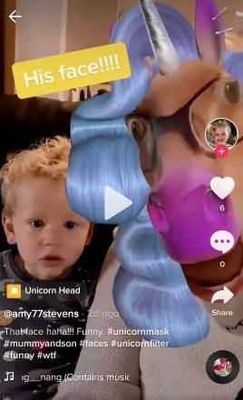 unicorn filter effect tiktok instagram