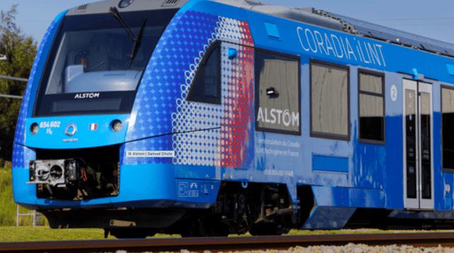 Во Франции запускают первый водородный поезд.