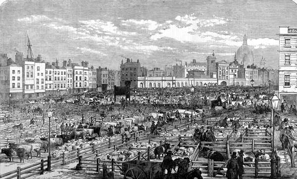 Smithfield_Last_day_of_Old_Smithfield_ILN_1855