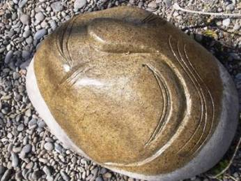 Stone sculptor designed by Mr. Bong Kim.
