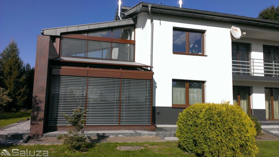 zaluzje fasadowe c80 ral 9006 ogrod zimowy - saluza.eu