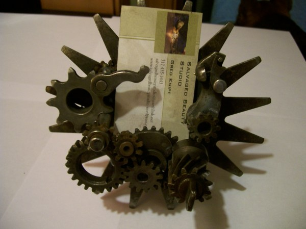 Rfp Steampunk Business Card Stand