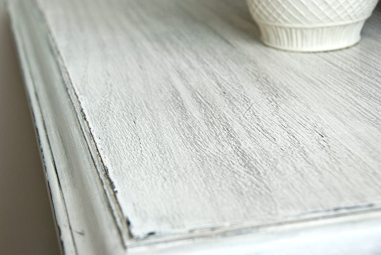 how to grey wash furniture with wax