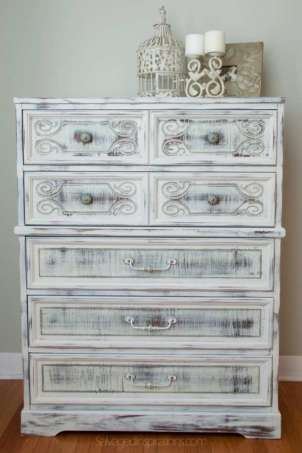 Shabby Chic Painted Antique Dresser
