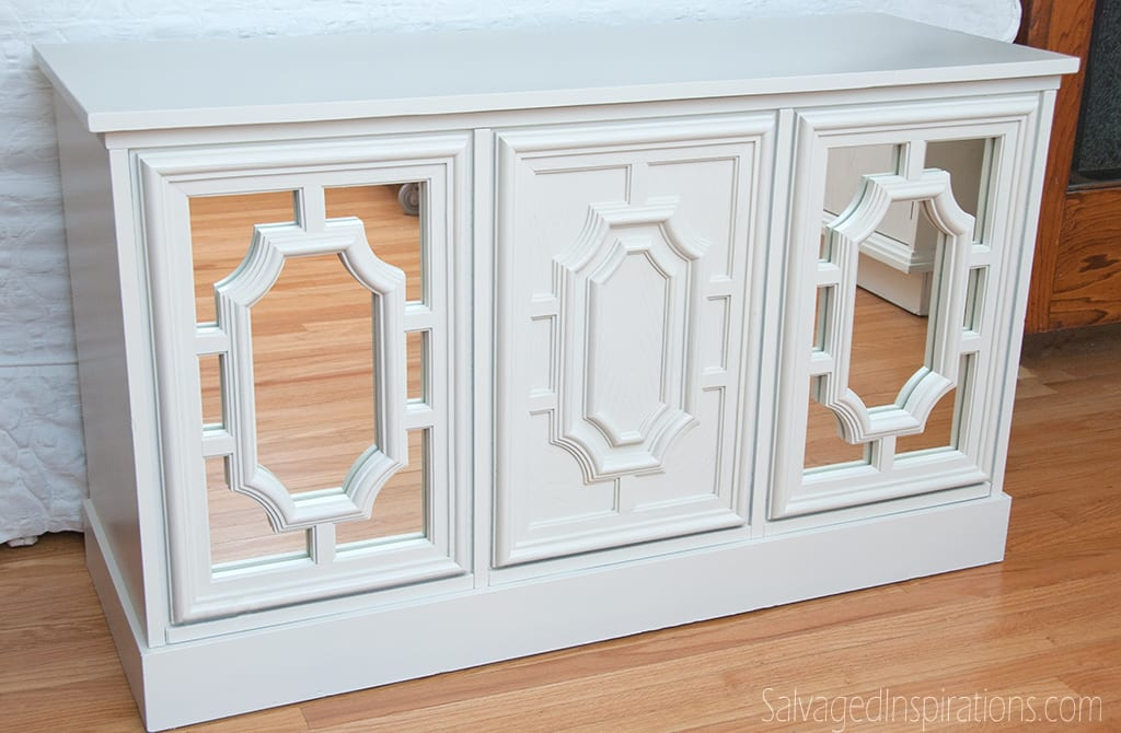 Diy mirrored cabinet doors for Diy mirrored kitchen cabinets