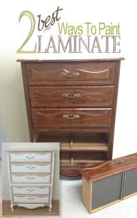 2 Best Ways To Paint Laminate Furniture - Salvaged ...