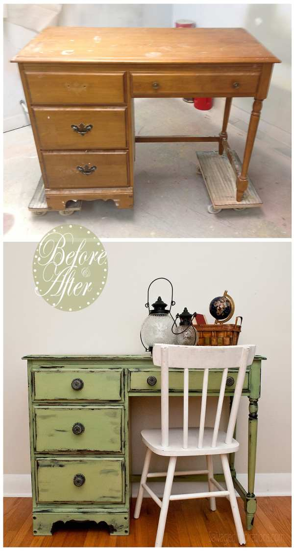 Distressed Furniture Before and After