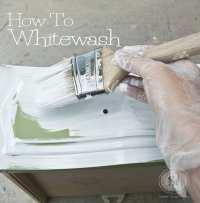 How To Whitewash Wood Furniture