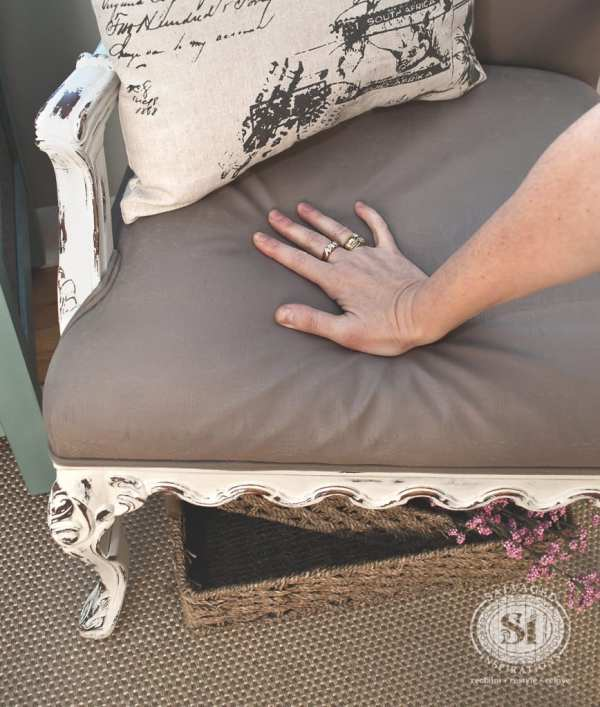 Painting Fabric With Chalk Style Paints Granny Chair