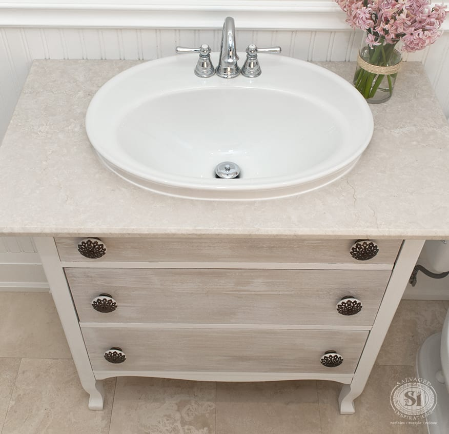 Furniture Stripping Refreshed Bathroom Vanity Makeover Salvaged Inspirations