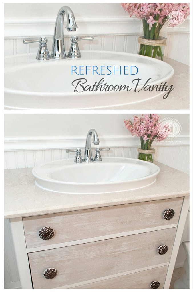 Furniture Stripping Refreshed Bathroom Vanity Makeover