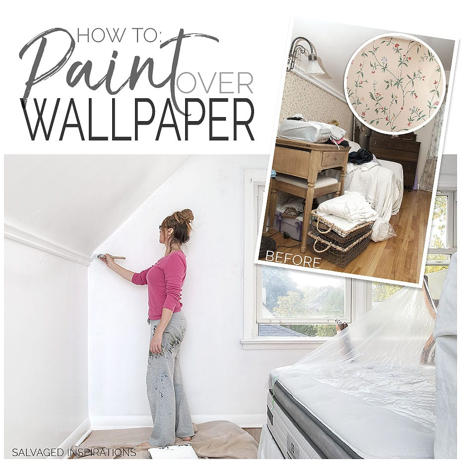 How To Paint Over Wallpaper The Quick Amp Dirty Way