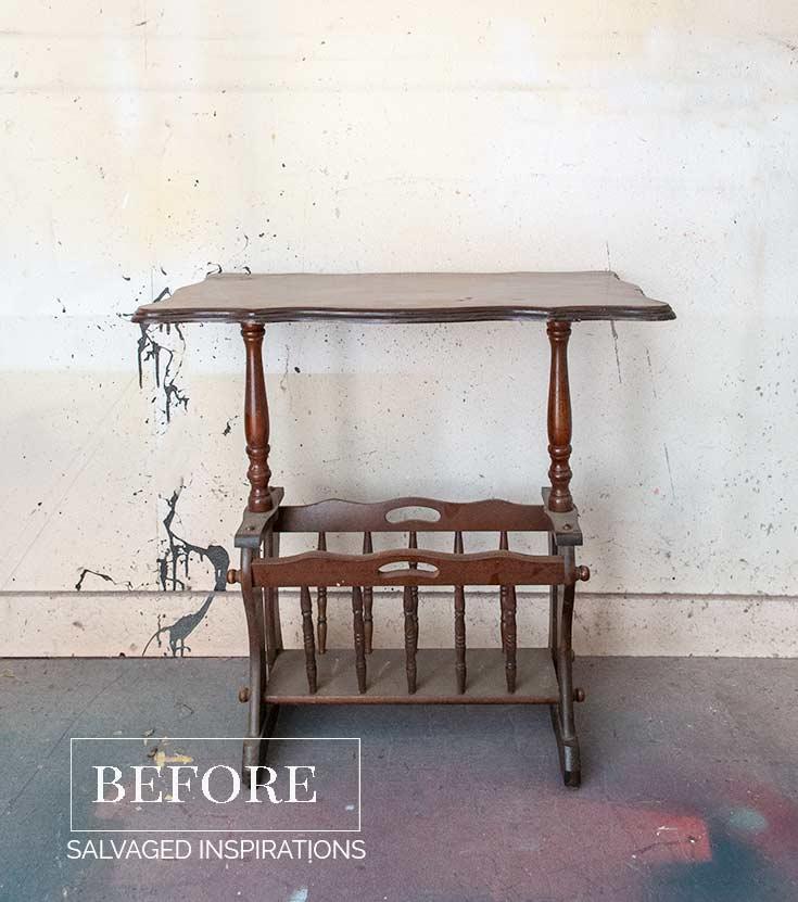 repurposed wooden magazine rack