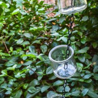 DIY Rain Chain Tutorial: Oui Yogurt Jar Craft