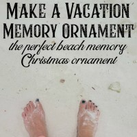 Vacation Memory Christmas Ornament