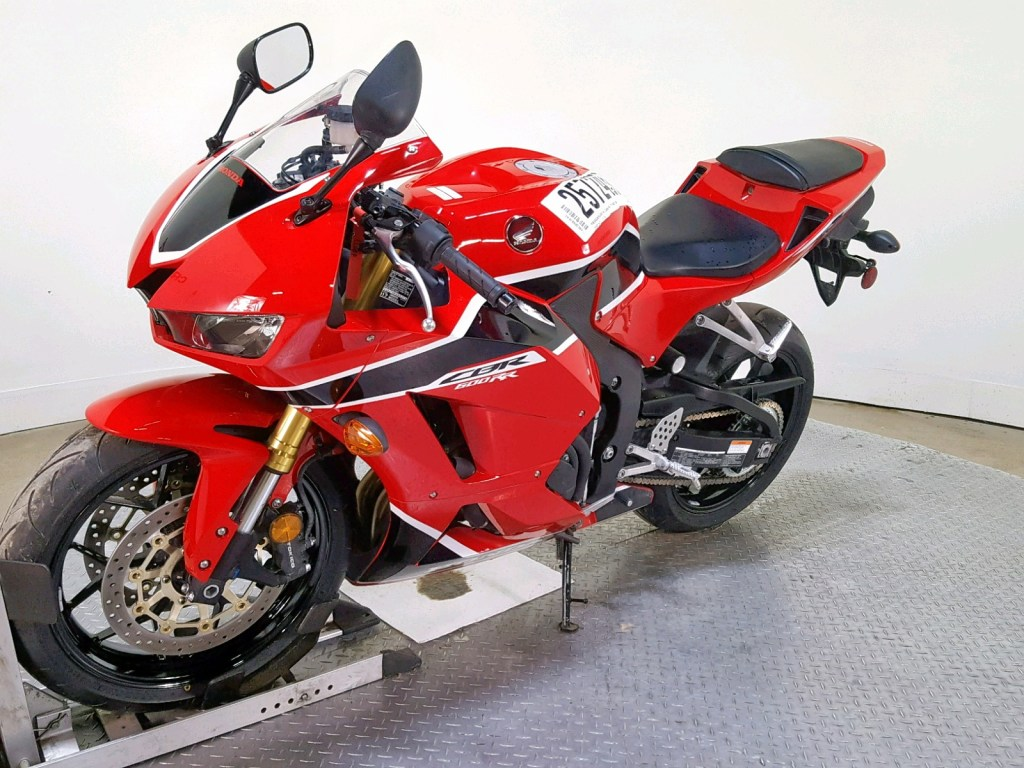 Honda CBR600 at salvage auction