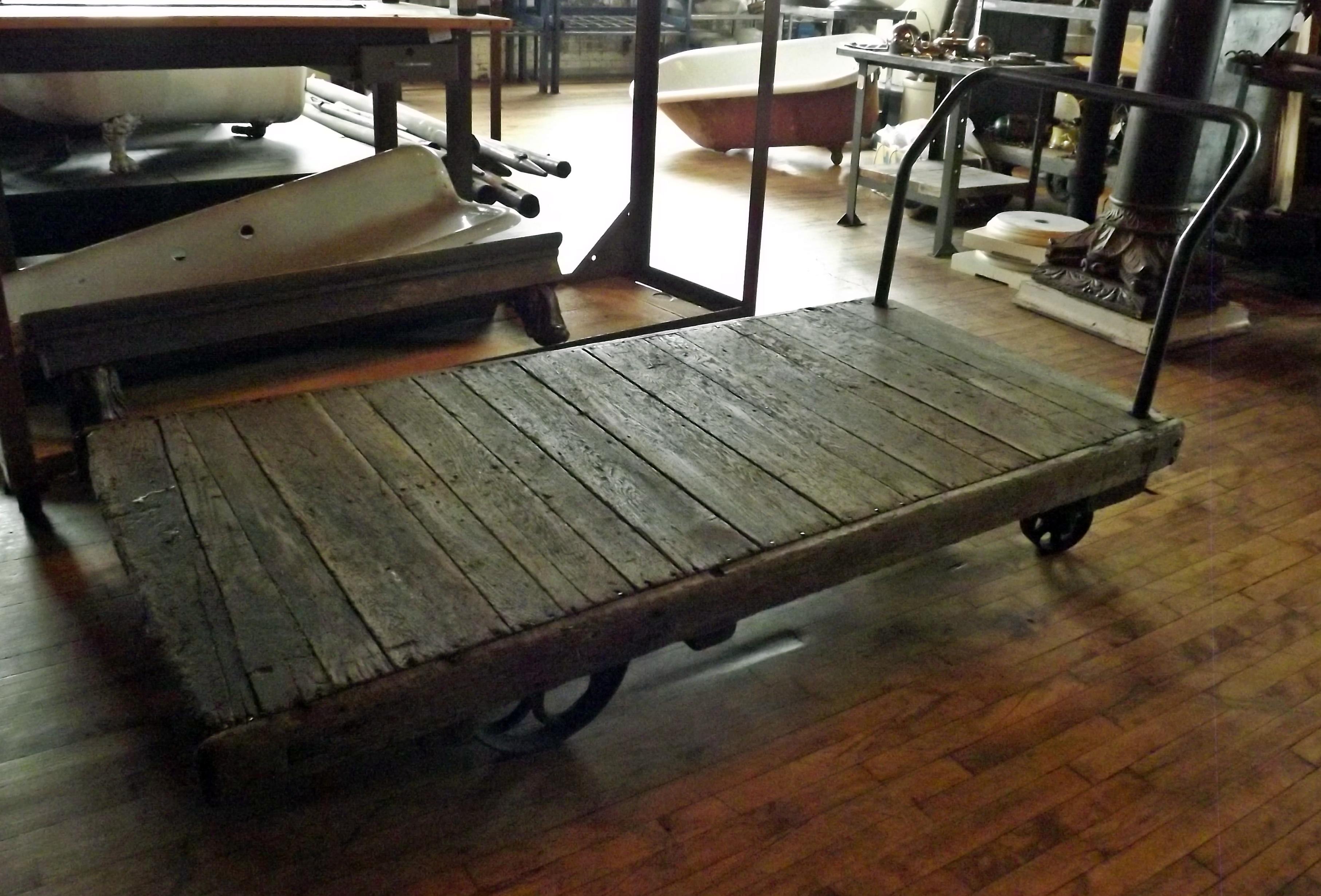 large antique industrial cart