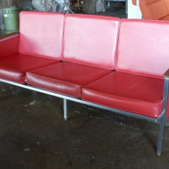 Steelcase Sofa Bed How To Wash A Cloth Red Vinyl Overstuffed Fpvr100 Bizchair