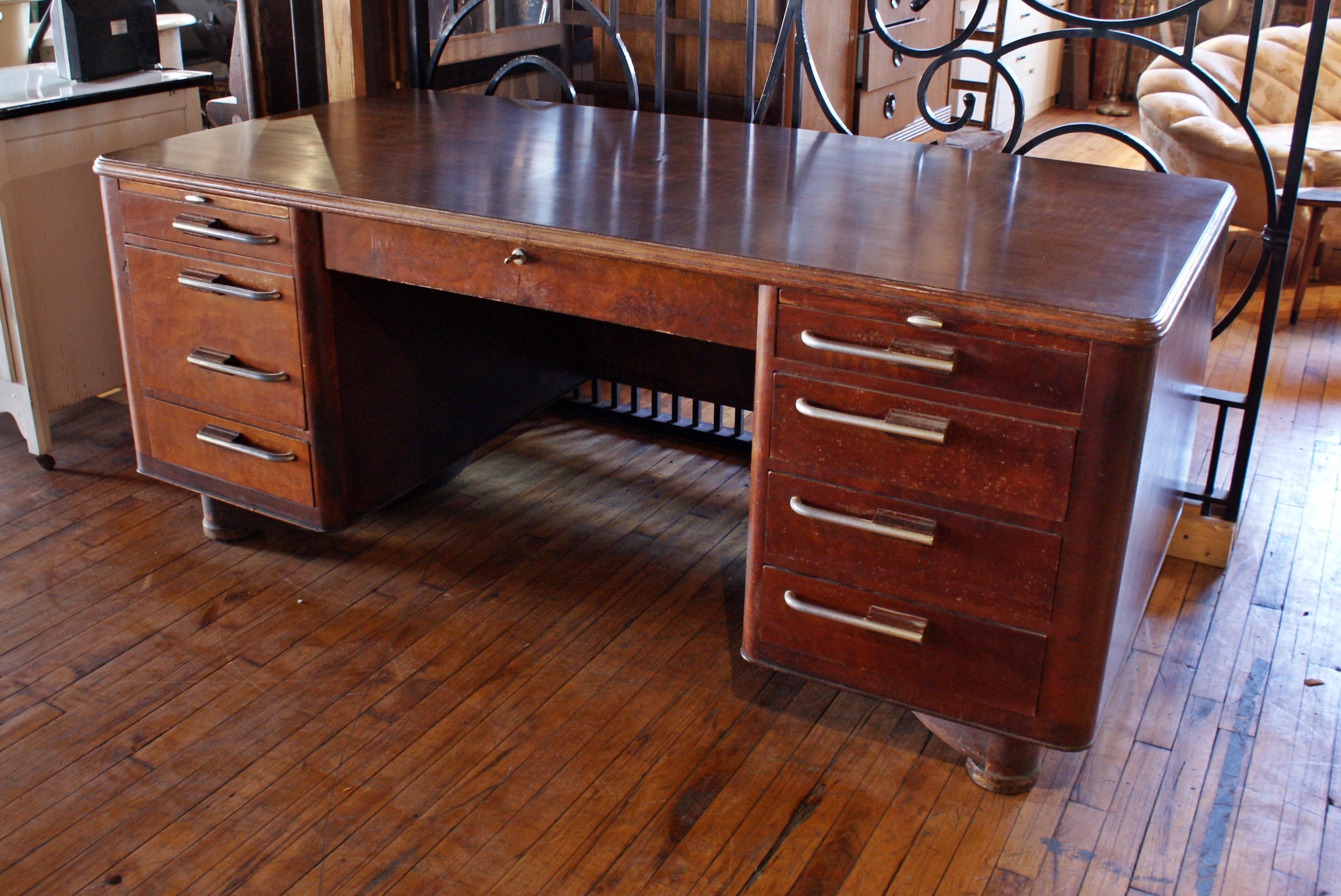 large art deco executive desk salvage one