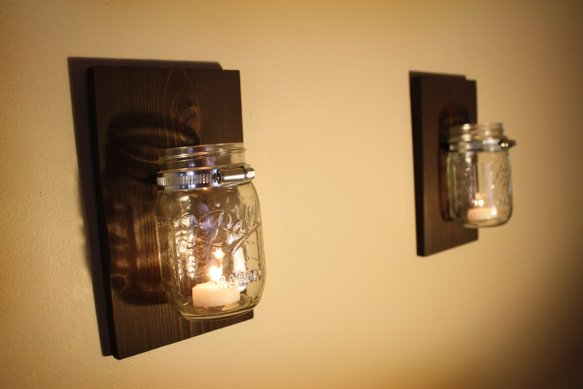 Rustic Mason Jar Candle Holder  Salvage Seattle