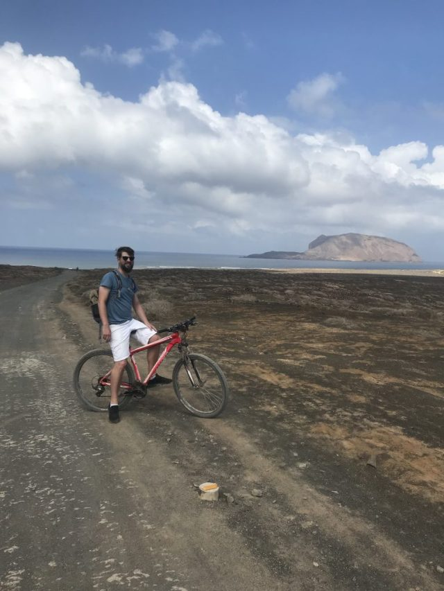 Cycling to find a beach in Graciosa Island