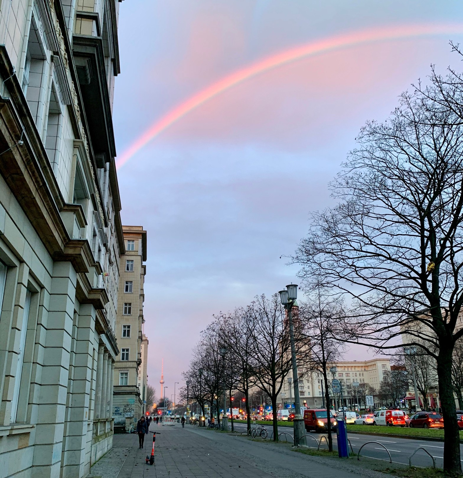 Rainbow at Frankfurter Alle in Berlin