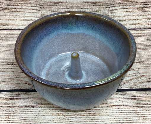 Blue apple baker pottery