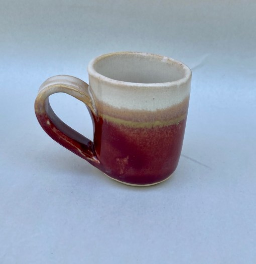 Red pottery espresso cup