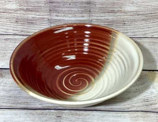Medium serving bowl by salvaterra pottery in Red Horizon